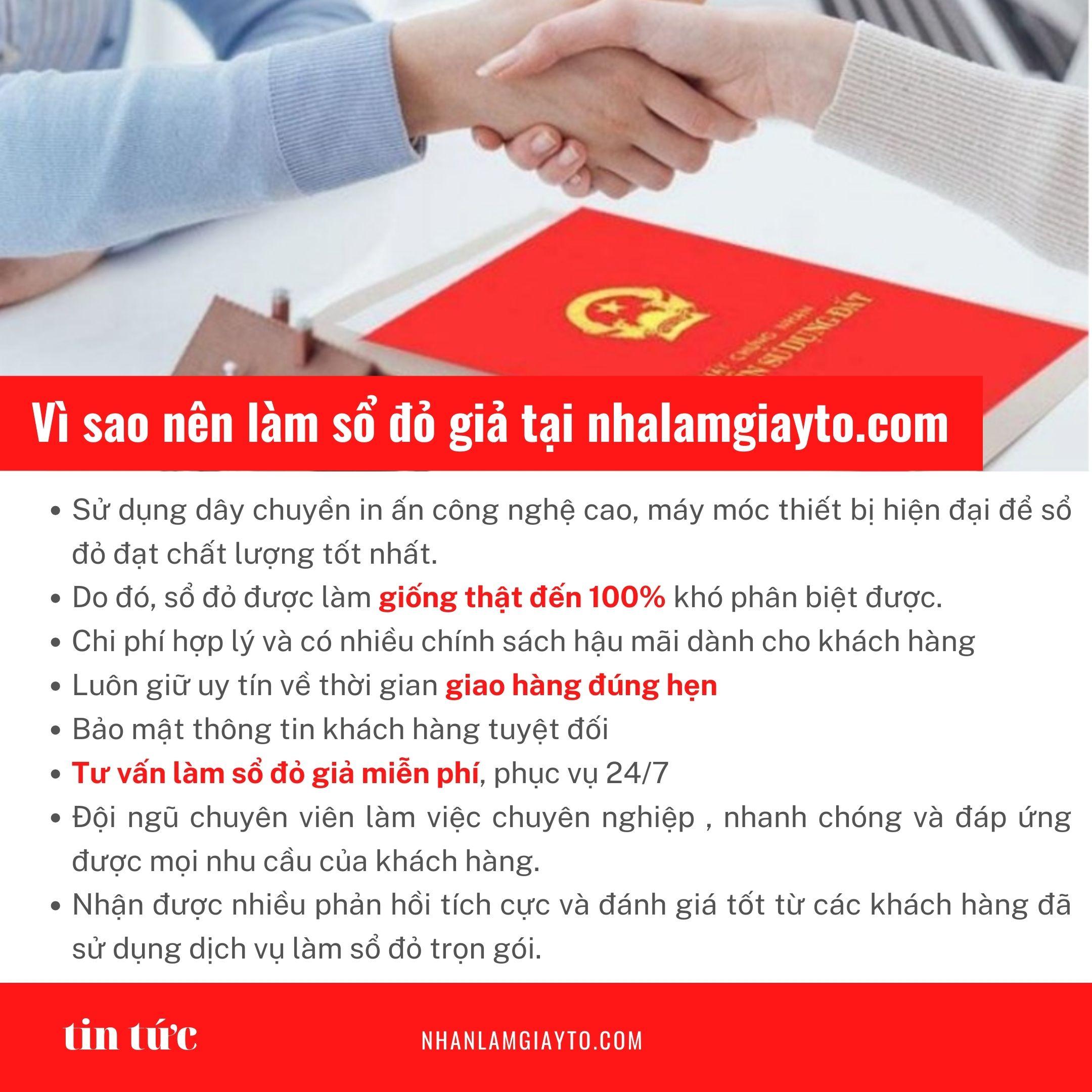 quy trình và thủ tục làm sổ đỏ giả tại nhanlamgiayto.com